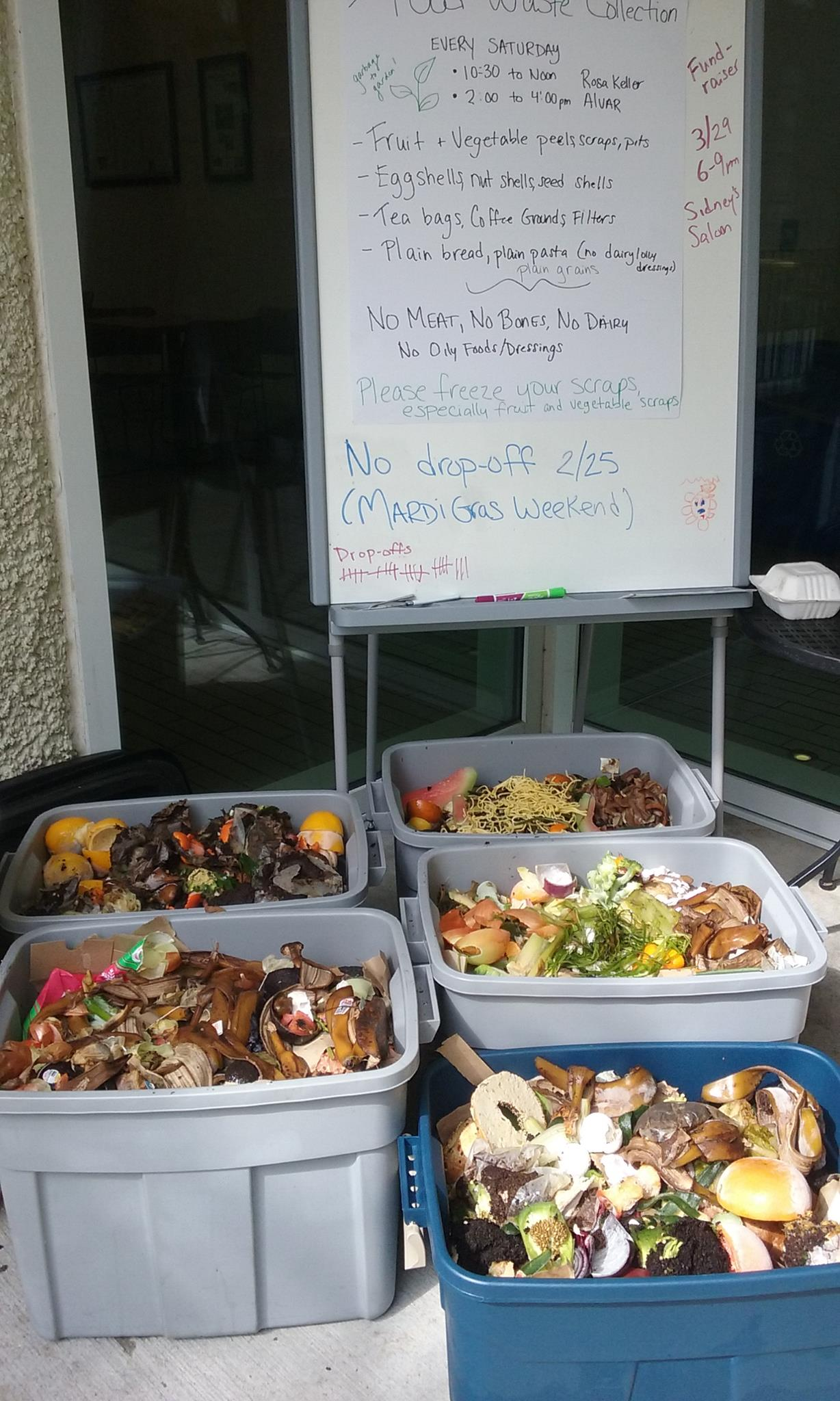 Rosa Keller Library Food Waste Collection