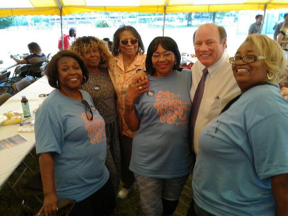 Pride Area Community Council Senior with the Detroit's Mayor Mike Duggan