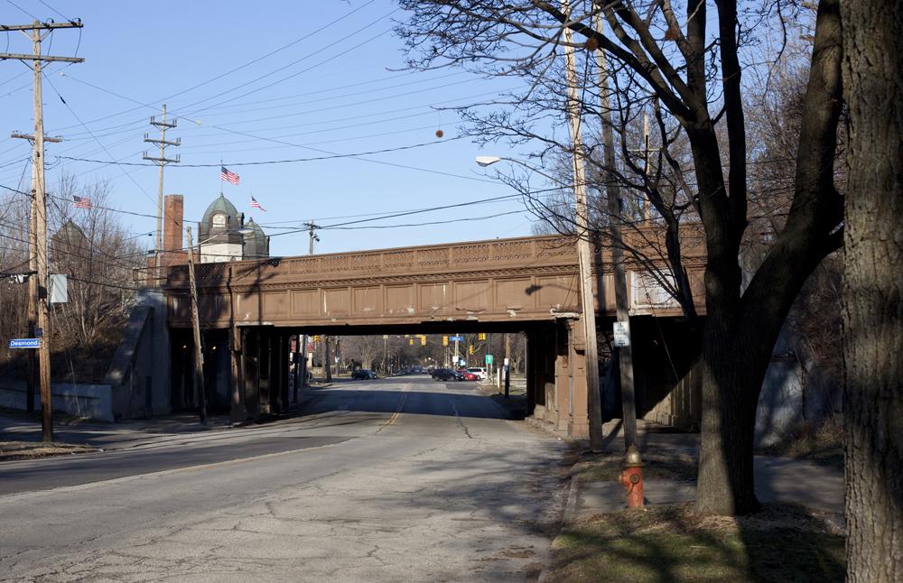 Lake Avenue bridge facing West