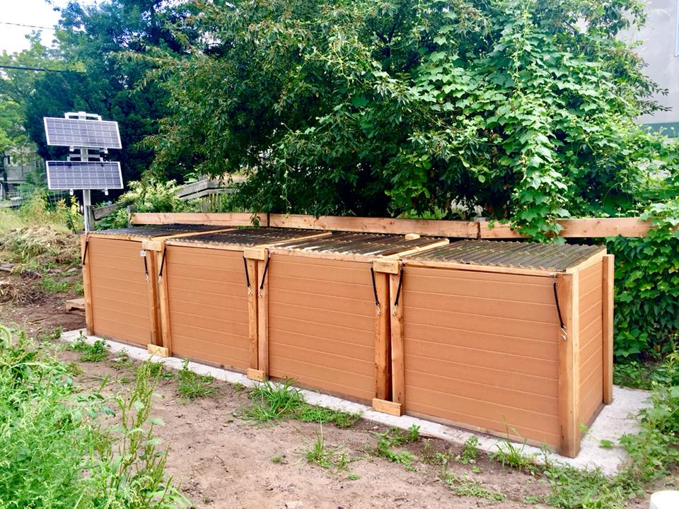 New Haven Land Trust's Aerated Static Pile Compost System