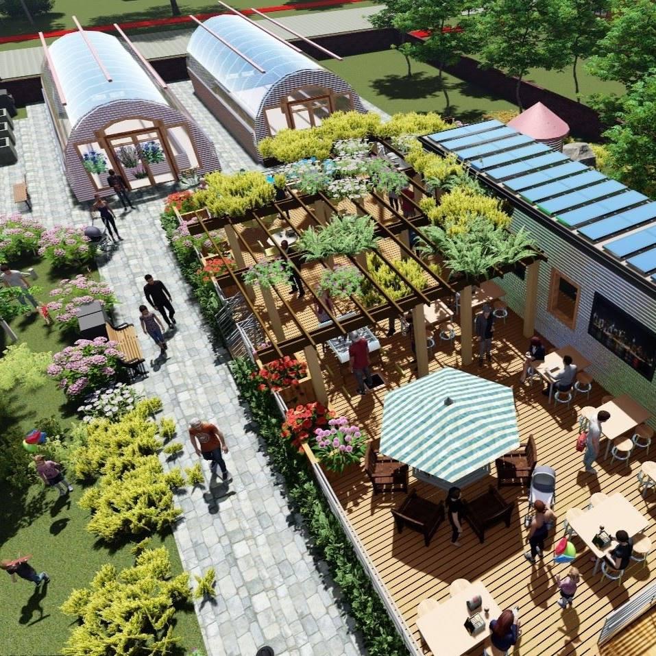 artist's rendering of Parker Village