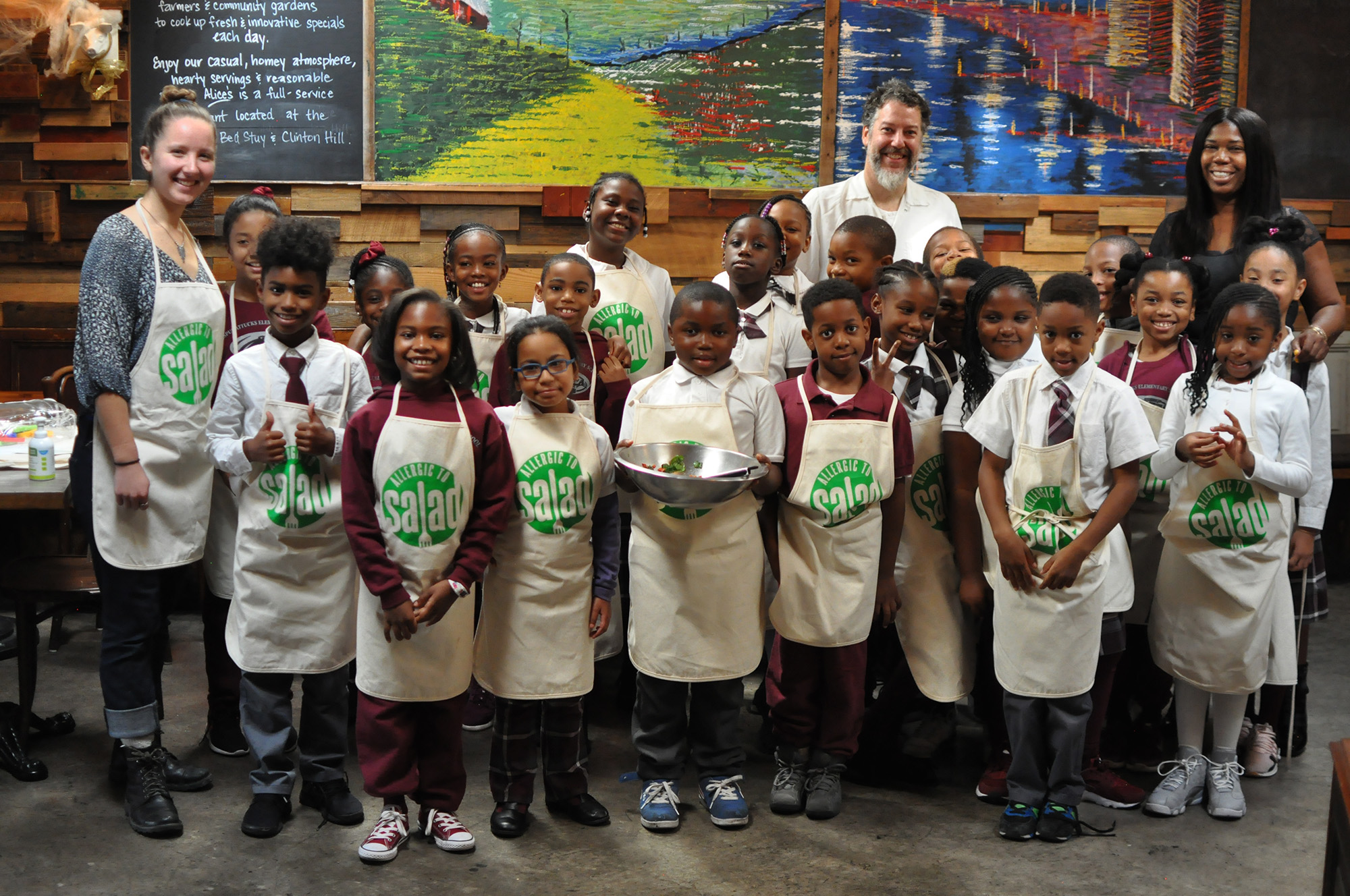 Ms. Scott's Third Grade Class at Alice's Arbor Restaurant