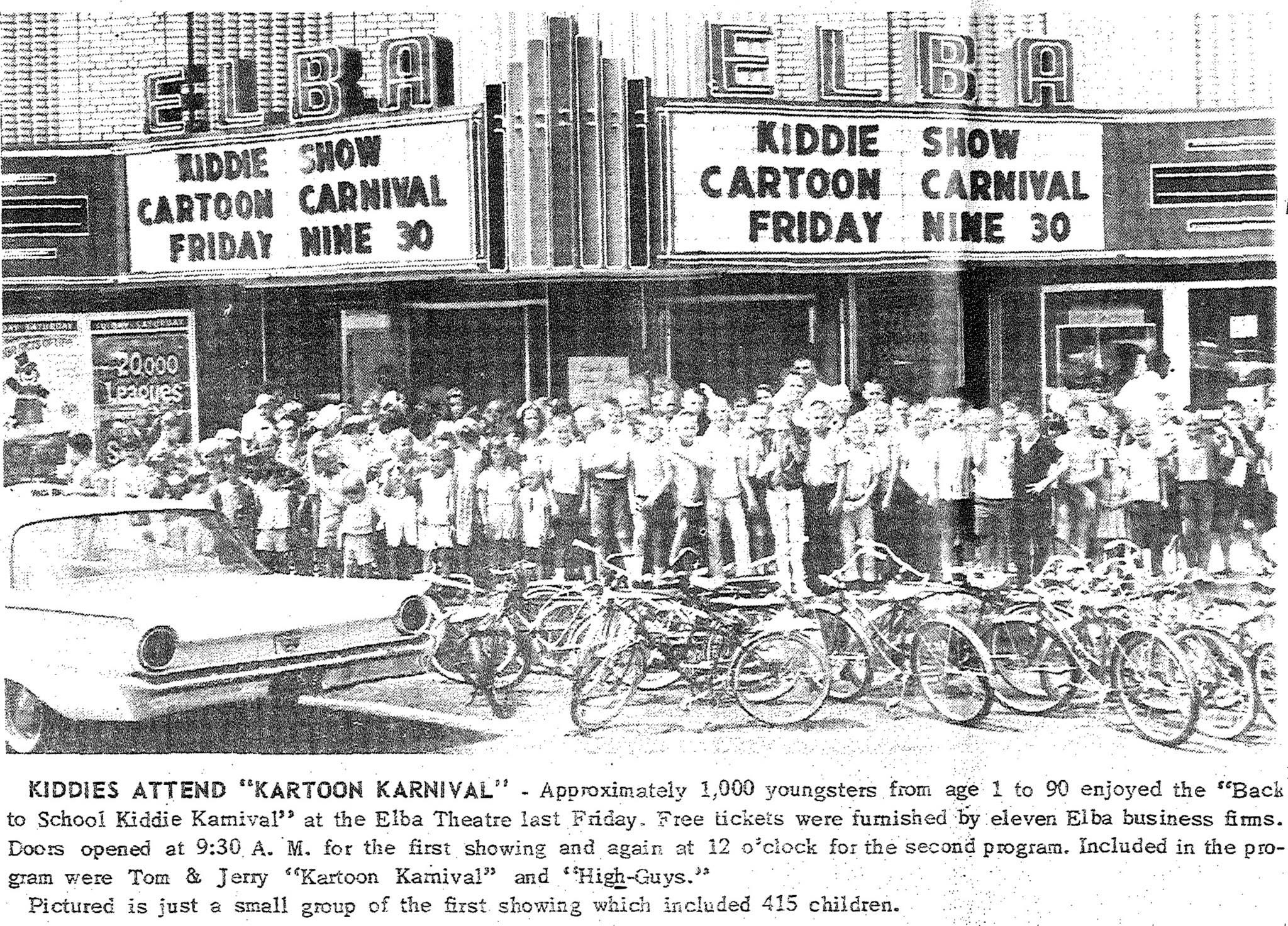 1964 Elba Clipper Newspaper Photo - Elba Theatre Hosts Kids