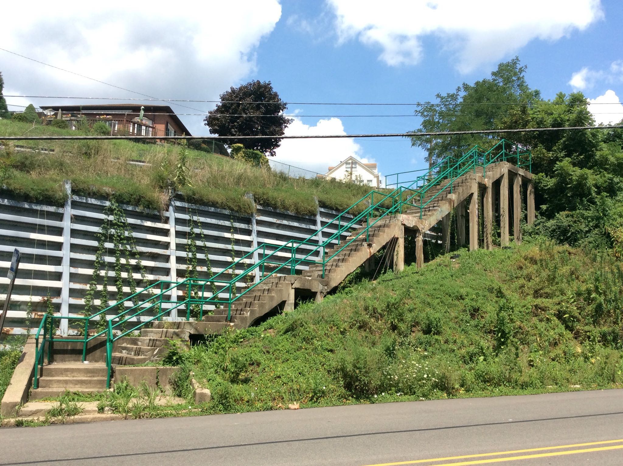 """The Stanton Heights Steps -- """"before"""" image."""