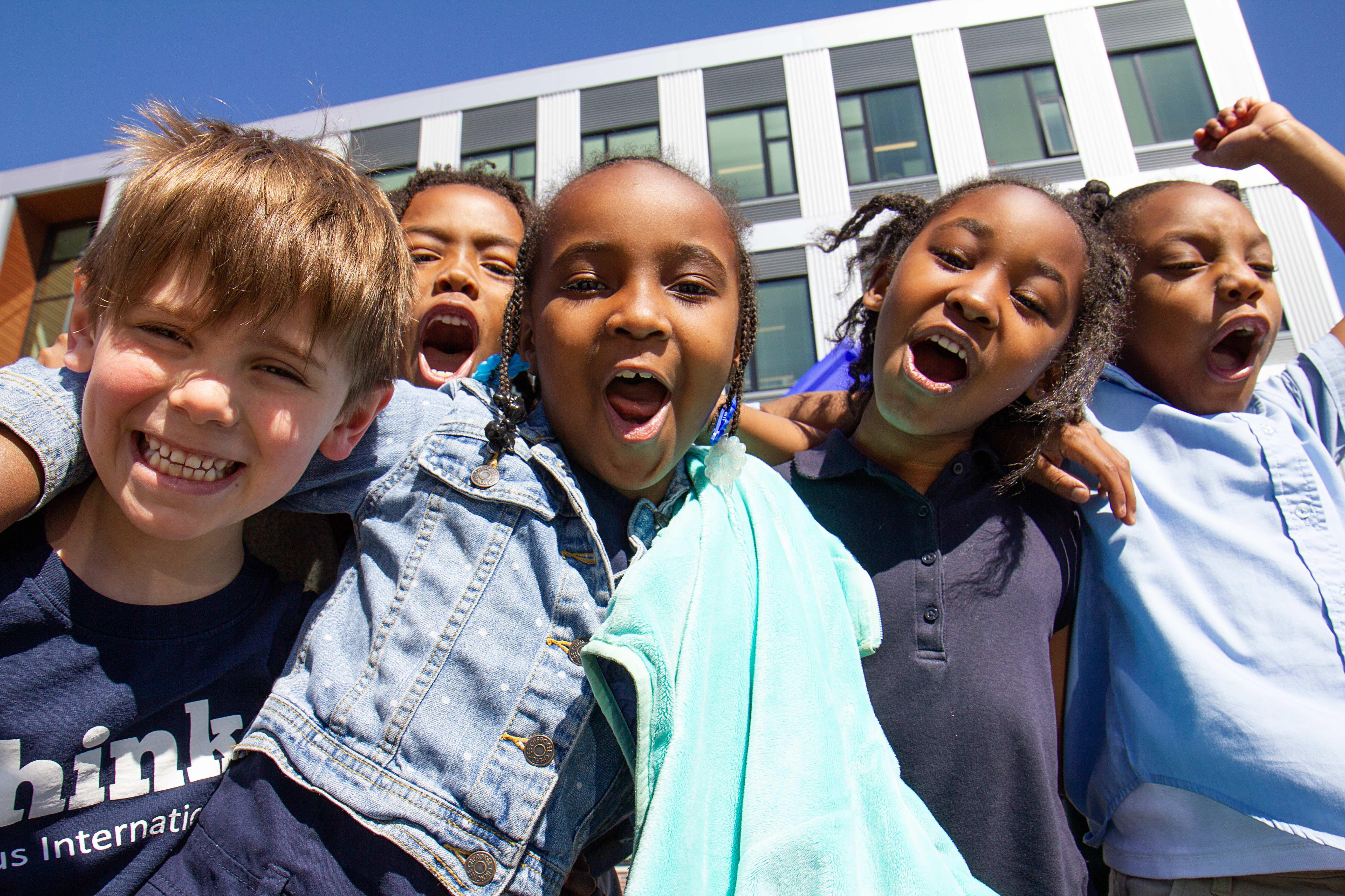 CIS kids on the playground