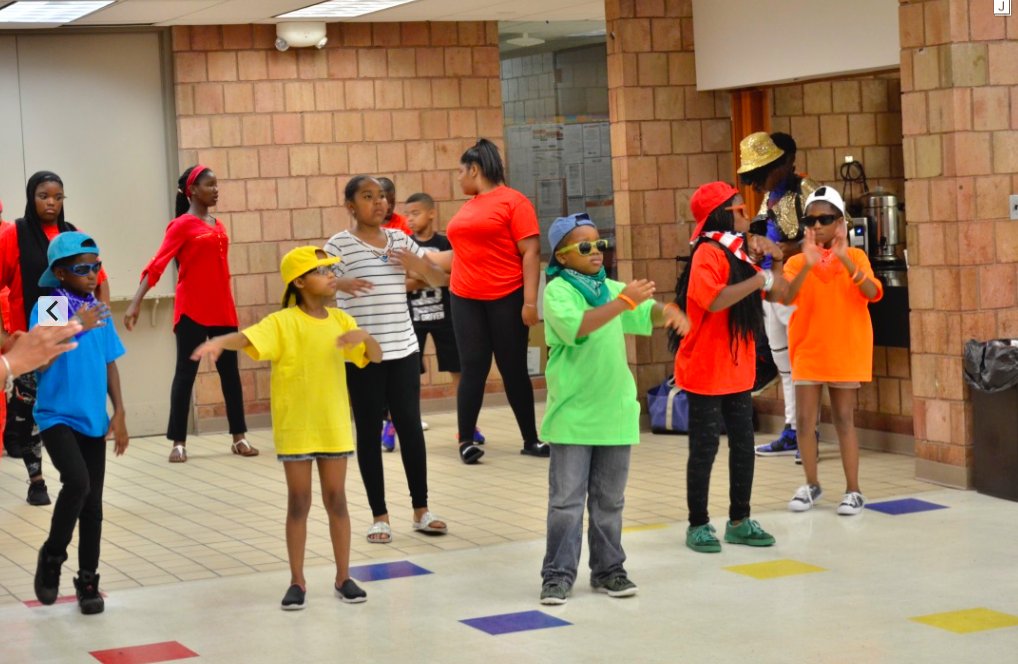 dance camp arranged for children over the summer in urban communities