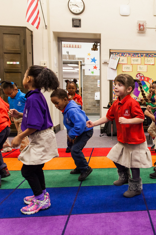 Ashley Elementary Students in Motion