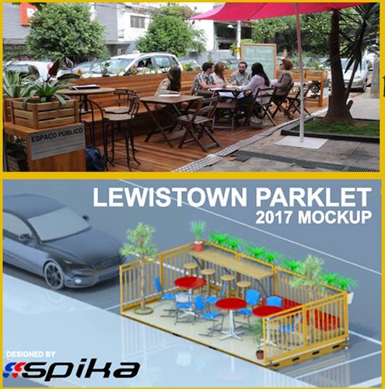 A design mock up or our parklet