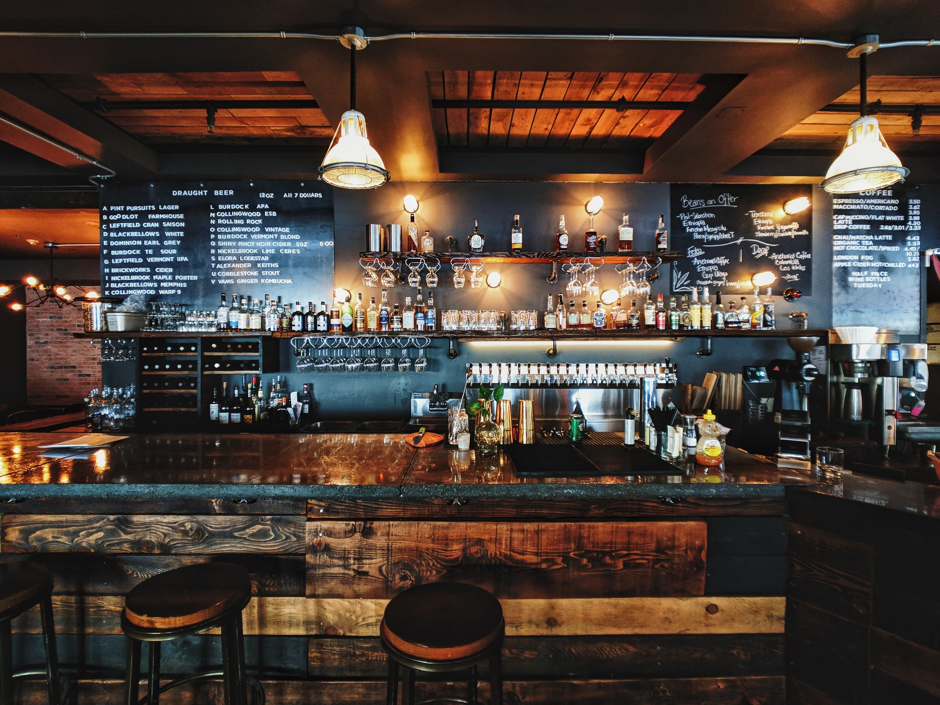Empty Bar Photo by Patrick Tomasso on Unsplash
