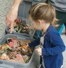 Kids like to compost