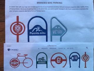 Samples of Branded Bicycle Racks