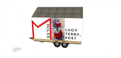 MILES mini-mobile-museum mock-up with Lucy Terry Prince