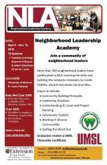 Neighborhood Leadership Academy
