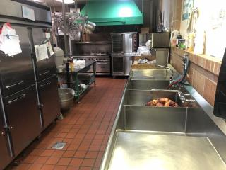 Current kitchen at St. Patrick School