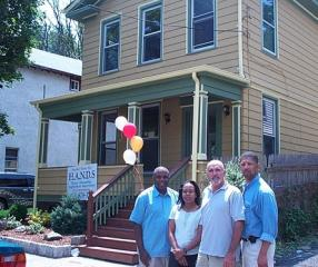 Celebrating a new start for a family and rehabbed house