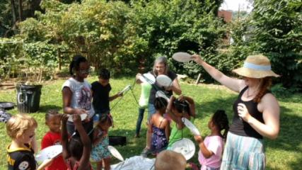 Community Gardens, child clay play, art and children, the power of art to heal