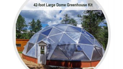 Geodesic Grow Dome for Aquaponics Farming