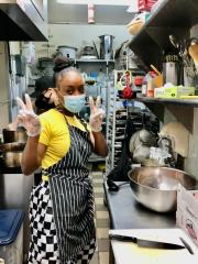 Naomi, one of our volunteer chefs at the project