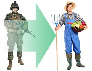 Helping soldiers become farmers!