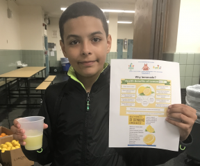 Students who promote healthy eating in Flatbush