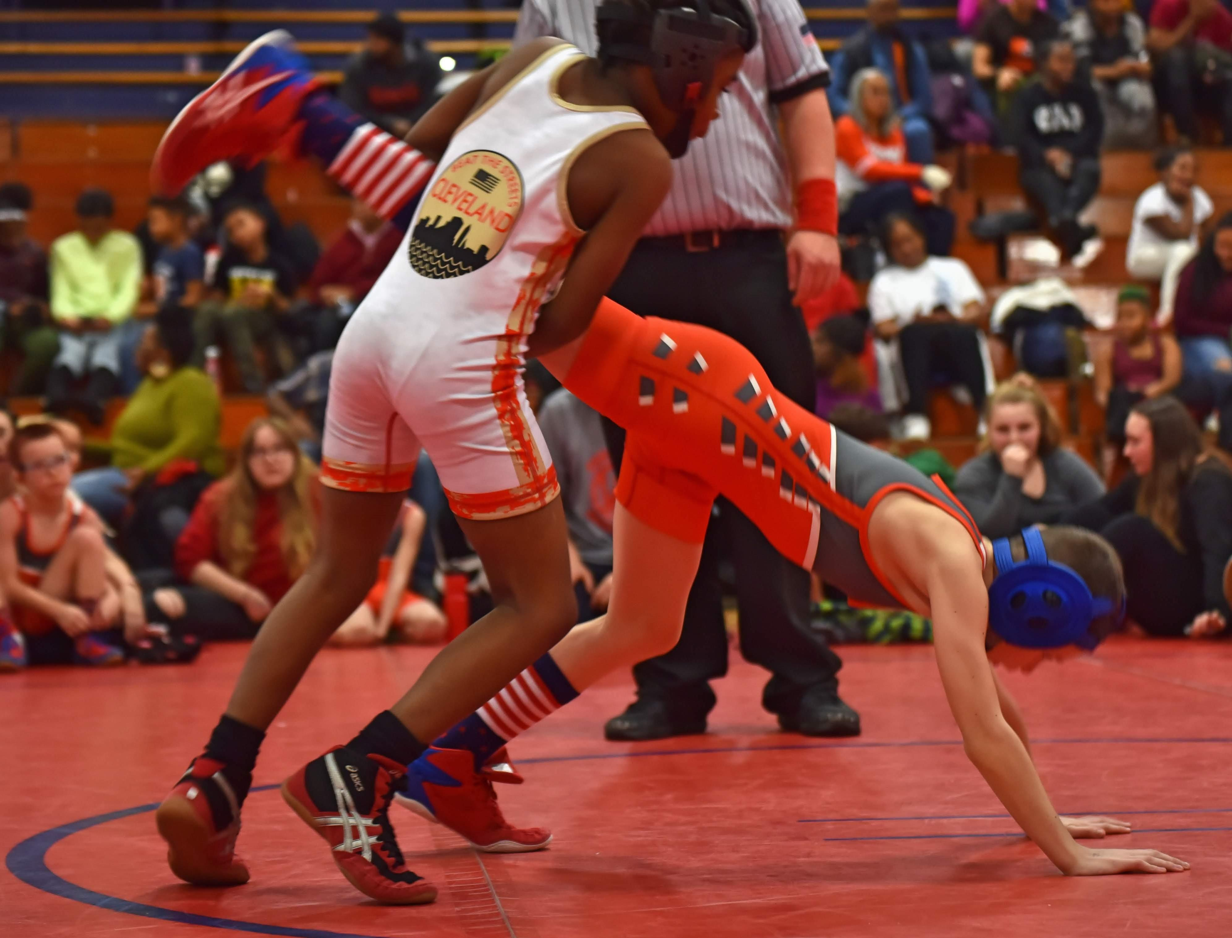 Beat the Streets Cleveland wrestler taking down the competition