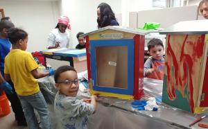 Youth at work creating