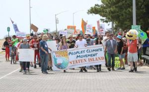 Photo from the 2017 Staten Island People's Climate March