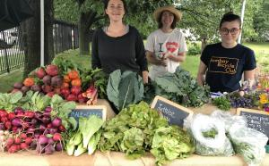 Produce table at last year's market
