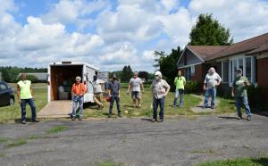 Our ReUse crew worked side by side with Finger Lakes ReUse this summer to help deconstruct a house.