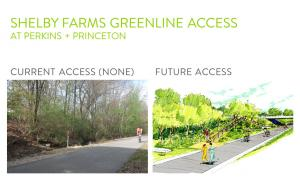 Before and After View of Perkins to Greenline Access