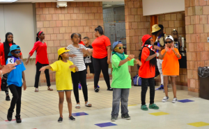 dance camp arranged for children over the summer in urban communities