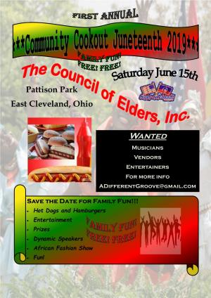 East Cleveland Juneteenth 2019 Community Cookout