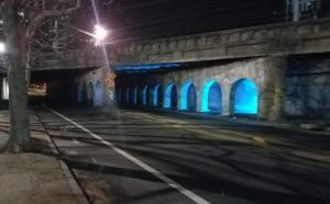 test light at underpass
