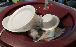 foam plates and bowls