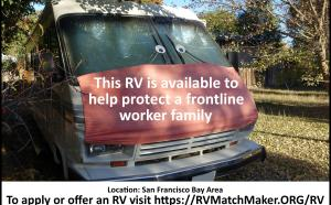 Pilot Project ~ Our First RV for a Frontline Worker's Family
